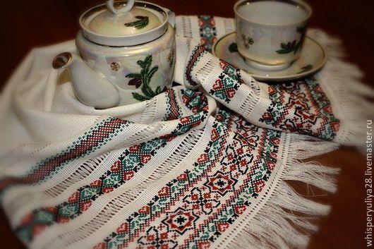 Текстиль, ковры ручной работы. Ярмарка Мастеров - ручная работа. Купить Мини-рушник 2. Handmade. Разноцветный, белый, канва