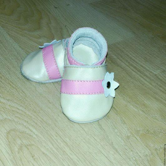 Обувь ручной работы. Ярмарка Мастеров - ручная работа. Купить Пинетки, чешки, мокасины, тапочки перламутровые. Handmade. пинетки для девочки