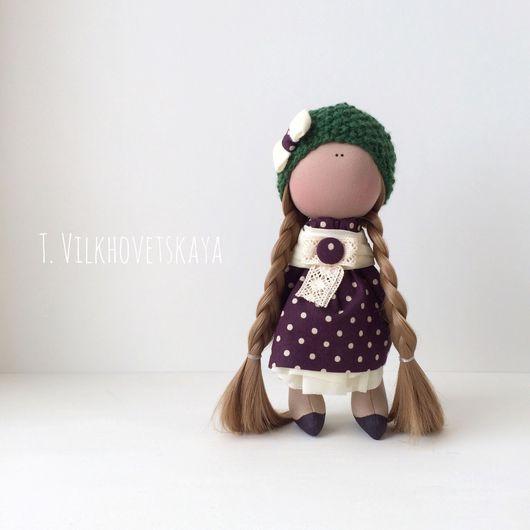Куклы тыквоголовки ручной работы. Ярмарка Мастеров - ручная работа. Купить Горошковое чудо. Handmade. Кукла ручной работы, шерсть