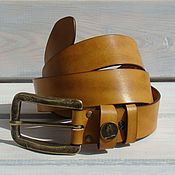 Аксессуары handmade. Livemaster - original item Leather belt Horizantal.. Handmade.