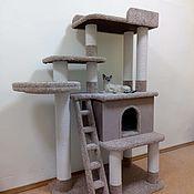 Зоотовары handmade. Livemaster - original item High big house for cats (suitable for large cats).. Handmade.