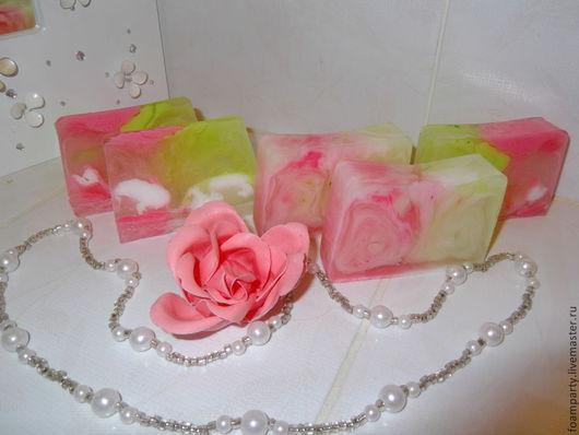 """Мыло ручной работы. Ярмарка Мастеров - ручная работа. Купить Мыло """"Нежная роза"""". Handmade. Разноцветный, розовое, роза"""