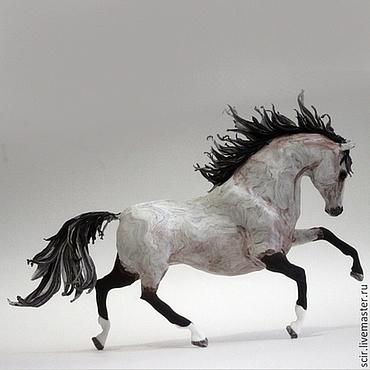 """Для дома и интерьера ручной работы. Ярмарка Мастеров - ручная работа Фигурка """"лошадь серая"""" (статуэтка лошади, статуэтки лошадей). Handmade."""