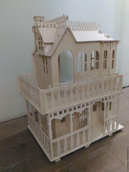 """Кукольный дом ручной работы. Ярмарка Мастеров - ручная работа. Купить Кукольный дом для Барби 3D конструктор """"Дом мечты"""". Handmade."""
