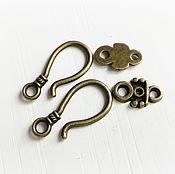 Материалы для творчества handmade. Livemaster - original item Lock hook for jewelry in bronze (art. 2712). Handmade.