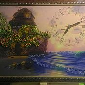 Картины ручной работы. Ярмарка Мастеров - ручная работа Картина с часами. Handmade.