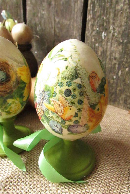 """Подарки на Пасху ручной работы. Ярмарка Мастеров - ручная работа. Купить пара яиц """"Букетик пасхальный"""". Handmade. Желтый, цветы"""
