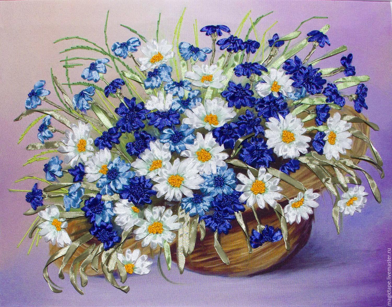 Вышивка лентами фото цветы