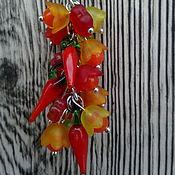 """Аксессуары ручной работы. Ярмарка Мастеров - ручная работа Брелок гроздь """"Перчики"""", брелок на ключи, брелок на сумку. Handmade."""