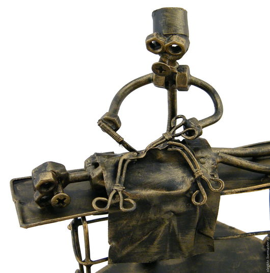 Миниатюрные модели ручной работы. Ярмарка Мастеров - ручная работа. Купить Нейрохирург №2. Handmade. Скульптурная миниатюра, медик из металла