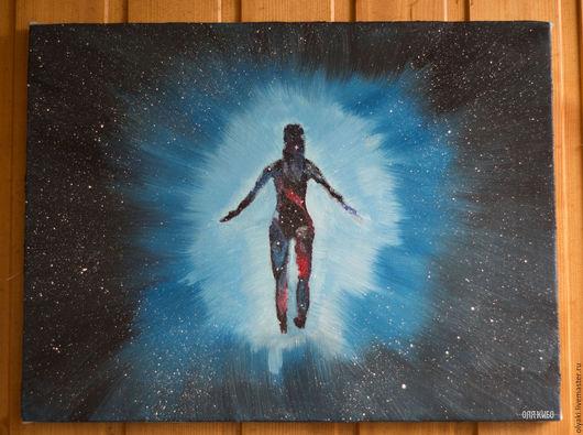 Фантазийные сюжеты ручной работы. Ярмарка Мастеров - ручная работа. Купить Вселенная души. Handmade. Вселенная, интерьер, символизм, Пазл