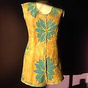 """Одежда ручной работы. Ярмарка Мастеров - ручная работа Жилет """"Голубые лотосы"""". Handmade."""