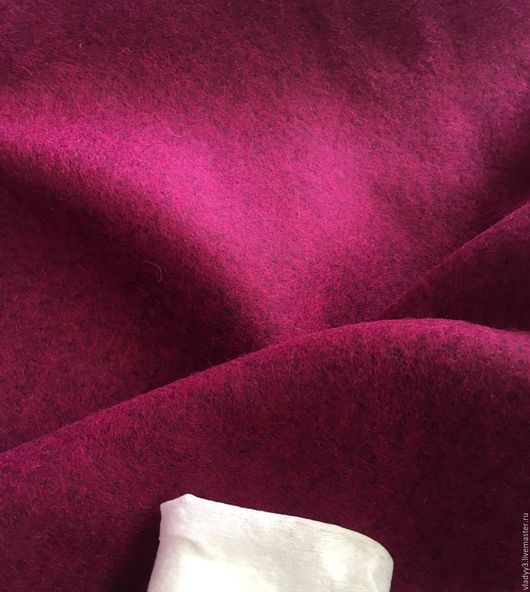Шитье ручной работы. Ярмарка Мастеров - ручная работа. Купить Лоден шерстяной цвет Маджента пурпур. Handmade. Фуксия