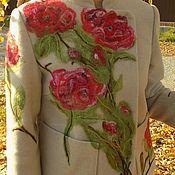 Одежда ручной работы. Ярмарка Мастеров - ручная работа Костюм из кашемира с элементами валяной шерсти. Handmade.