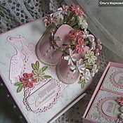 """Подарки к праздникам ручной работы. Ярмарка Мастеров - ручная работа Нежно-розовый  комплект """"Мамины сокровища"""" с цветами.. Handmade."""