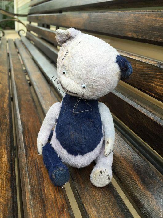 Мишки Тедди ручной работы. Ярмарка Мастеров - ручная работа. Купить Барсик. Handmade. Разноцветный, кот тедди, глаза стеклянные