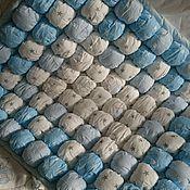 """Для дома и интерьера ручной работы. Ярмарка Мастеров - ручная работа Комплект в кроватку """"Мишки"""" одеяло бомбон, подушка,  простынка. Handmade."""