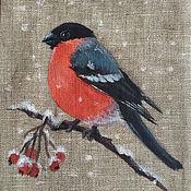Сувениры и подарки handmade. Livemaster - original item Bags for gifts: Linen bag with painting
