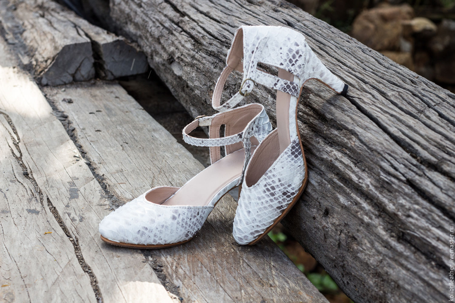 Leather stiletto heel . Shoes made of genuine Python leather, Shoes, Chelyabinsk,  Фото №1