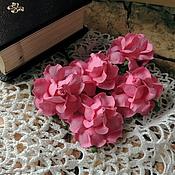 Цветы искусственные ручной работы. Ярмарка Мастеров - ручная работа Цветы розы розовые 5 шт. Handmade.