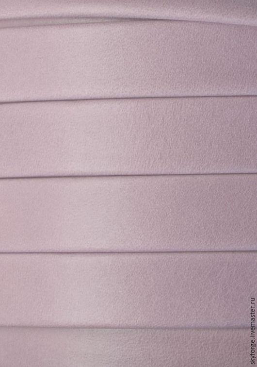 Для украшений ручной работы. Ярмарка Мастеров - ручная работа. Купить Кожаный шнур плоский 10x2 мм Denver, светло-пурпурный. Handmade.
