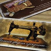 Дизайн и реклама ручной работы. Ярмарка Мастеров - ручная работа Визитки мастеров шитья и вязания. Логотип. Handmade.