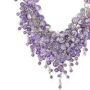 Украшения handmade. Livemaster - original item Amethyst Parfait, handmade Necklace made of natural amethysts. Handmade.