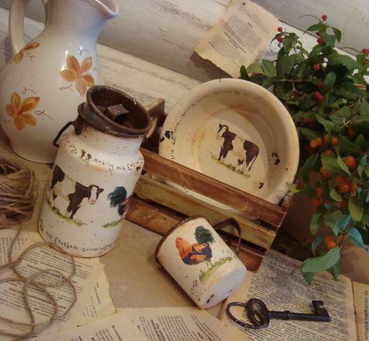 """Кухня ручной работы. Ярмарка Мастеров - ручная работа. Купить Набор """"Лавка Молочника"""". Handmade. Комбинированный, винтаж, подарок"""