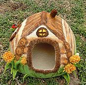 """Для домашних животных, ручной работы. Ярмарка Мастеров - ручная работа Домик для котика """"Избушка"""". Handmade."""