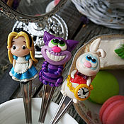 Посуда handmade. Livemaster - original item Spoon: Alice in Wonderland, a set of teaspoons. Handmade.