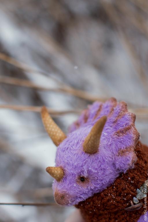 Мишки Тедди ручной работы. Ярмарка Мастеров - ручная работа. Купить маленький динозавр. Handmade. Сиреневый, опилки древесные