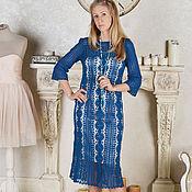 """Одежда ручной работы. Ярмарка Мастеров - ручная работа """"Рerla del mar"""" Кружевное вязаное платье. Handmade."""