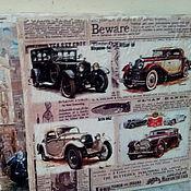 Картины и панно ручной работы. Ярмарка Мастеров - ручная работа Панно деревянное 30х30 состаренное Ретро-авто-3. Handmade.