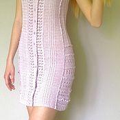 Одежда ручной работы. Ярмарка Мастеров - ручная работа Платье-халат Vintage связанный крючком по мотивам Ванессы Монторо. Handmade.