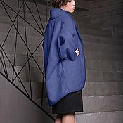 """Одежда ручной работы. Ярмарка Мастеров - ручная работа Пальто """"Параллели в синем"""". Handmade."""