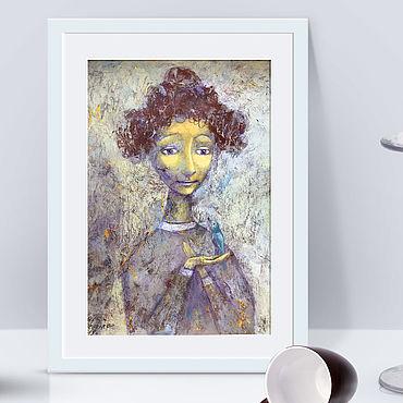 Картины и панно ручной работы. Ярмарка Мастеров - ручная работа Девочка арт,  картина интерьер ,образ девочки. Handmade.