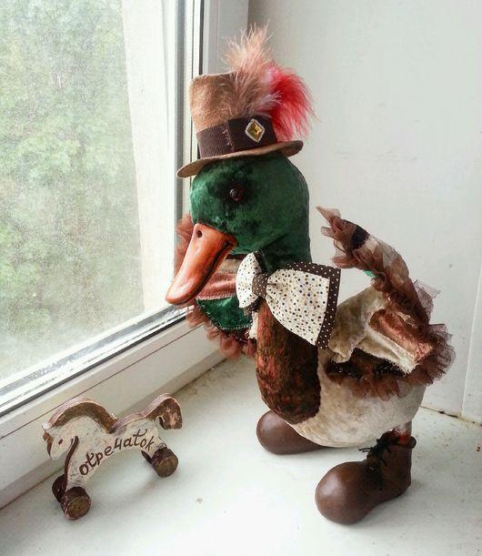 Куклы и игрушки ручной работы. Ярмарка Мастеров - ручная работа. Купить Селезень - модный франт. Handmade. Утка, селезень, птица