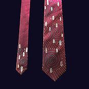Аксессуары handmade. Livemaster - original item Royal ruby-Klimt series, tie, author`s painting.. Handmade.