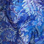 """Аксессуары ручной работы. Ярмарка Мастеров - ручная работа шелковый батик шарф """"Зимние узоры"""". Handmade."""