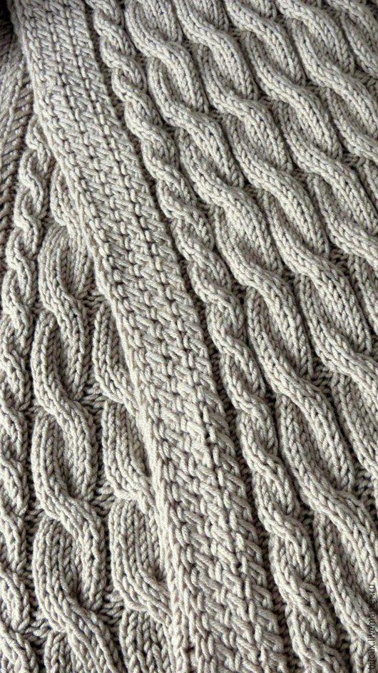 Текстиль, ковры ручной работы. Ярмарка Мастеров - ручная работа. Купить Плед вязаный. Handmade. Бежевый, плед крючком