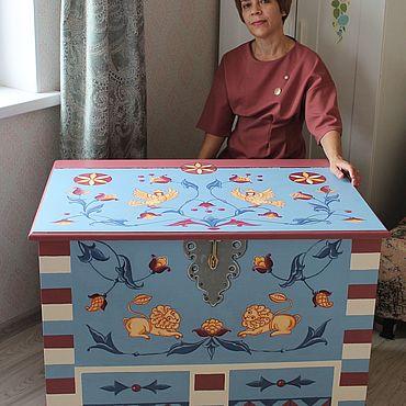 Мебель ручной работы. Ярмарка Мастеров - ручная работа Сундук для хранения. Handmade.