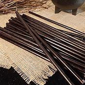 Ритуальная свеча ручной работы. Ярмарка Мастеров - ручная работа Свеча восковая черная. Handmade.