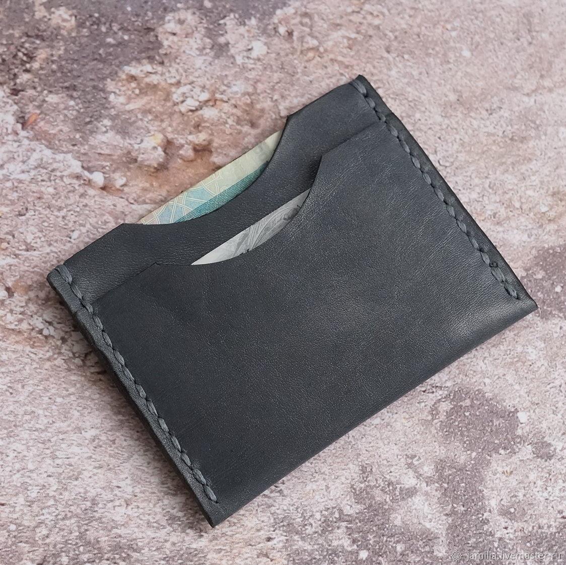 dbe7d52c3f67 Ярмарка Мастеров - ручная работа. Купить Компактный кошелек, картхолдер  кожаный ...