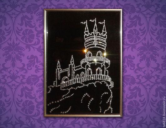 Город ручной работы. Ярмарка Мастеров - ручная работа. Купить Картина из страз Замок Ласточкино гнездо (Крым). Handmade.