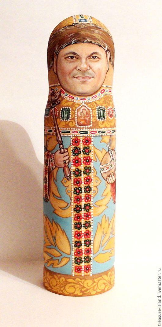 Подарочная упаковка ручной работы. Ярмарка Мастеров - ручная работа. Купить Матрешка-футляр под бутылку. Handmade. Портрет по фотографии