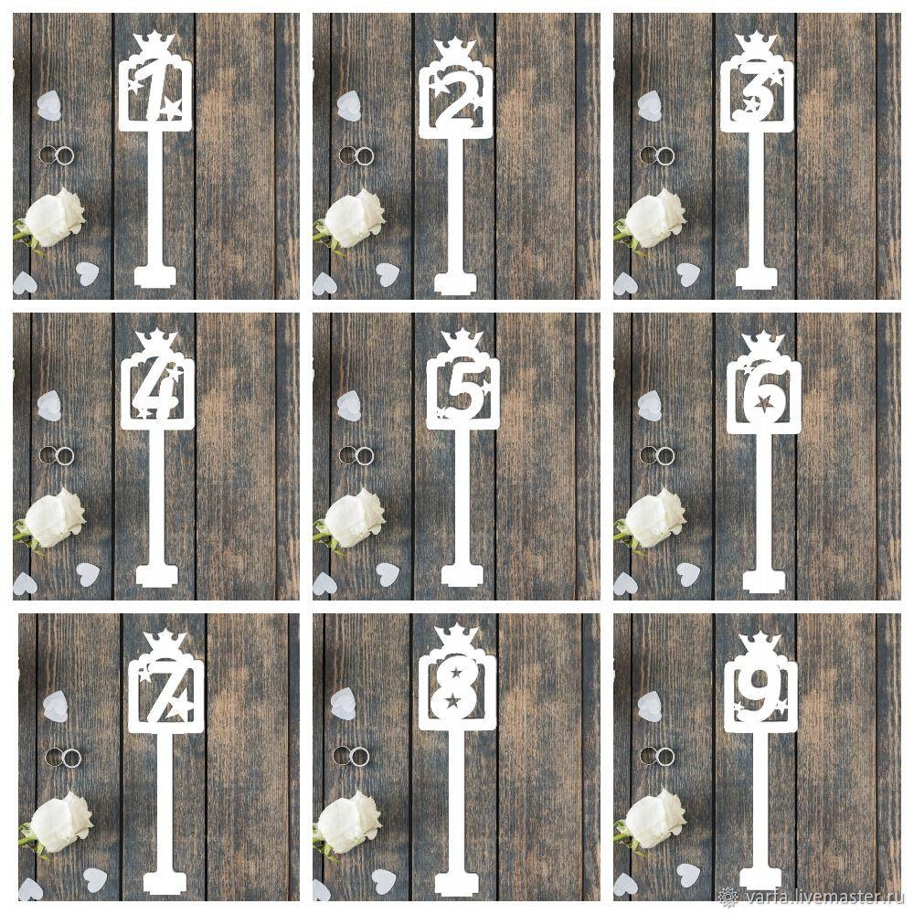 """Номерки на столы """"Королевские"""", Карточки, Москва,  Фото №1"""