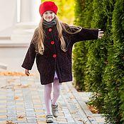 Работы для детей, ручной работы. Ярмарка Мастеров - ручная работа детское пальто Пончо. Handmade.