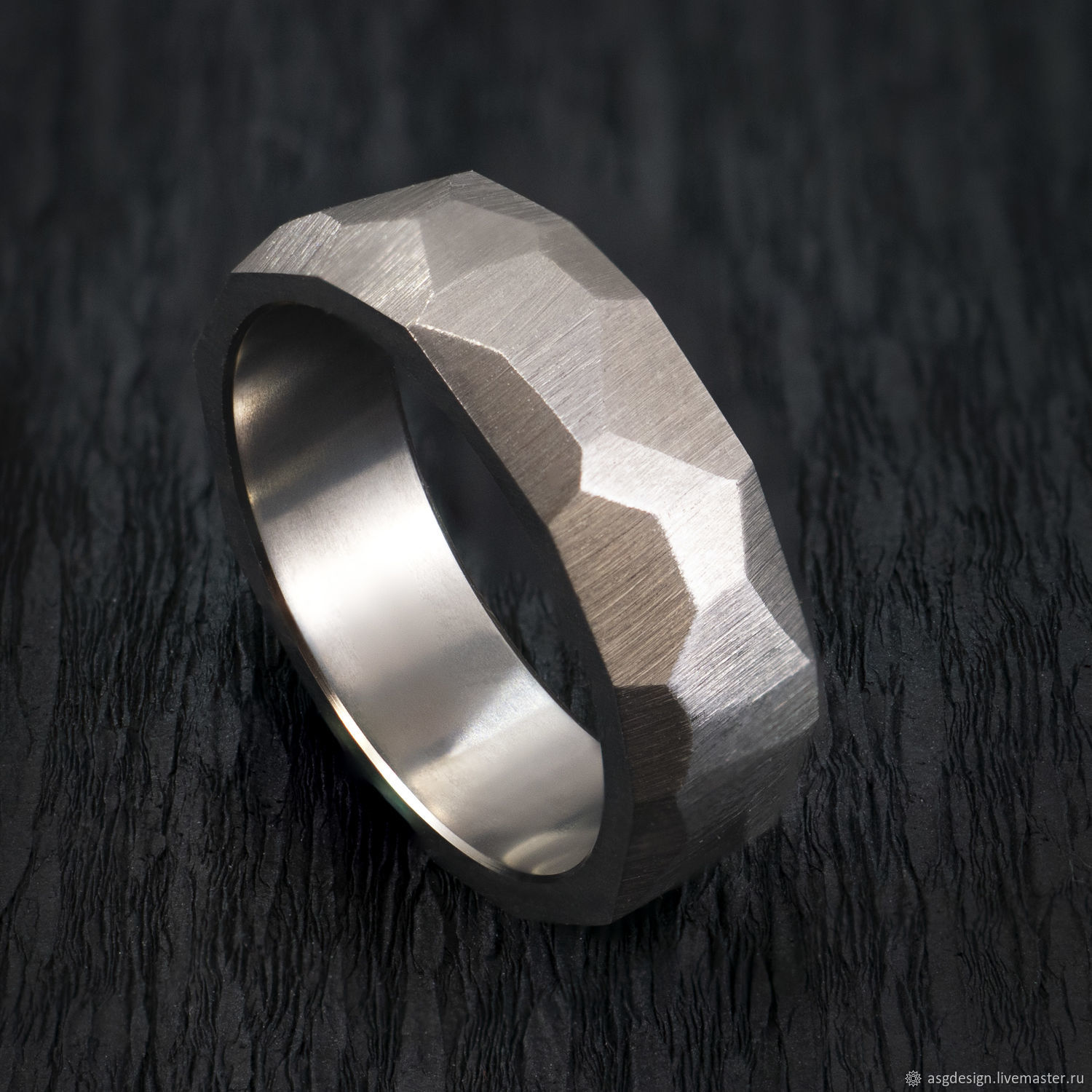 Faceted titanium ring, Rings, Moscow,  Фото №1