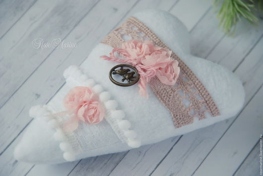 Подарки для влюбленных ручной работы. Ярмарка Мастеров - ручная работа. Купить Сердечко Тильда текстильное в стиле шебби-шик. Handmade.