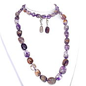 Украшения handmade. Livemaster - original item Necklace, bracelet and beads made of natural ametrine. Handmade.